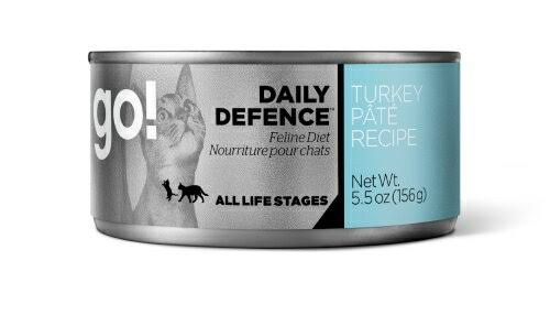 Go! Daily Defence Cat Food - Turkey Pate Recipe, 5.5oz, 26 Pack