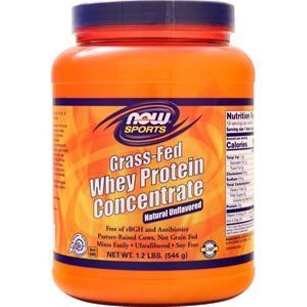 Now Foods Grass-Fed Whey Protein Concentrate Natural Unflavored 1.2 lb