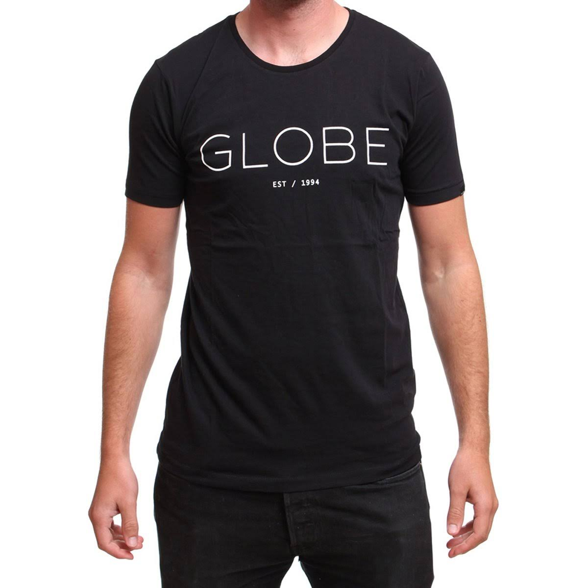 Globe Phase Men's Short-Sleeve Shirts Black / Large
