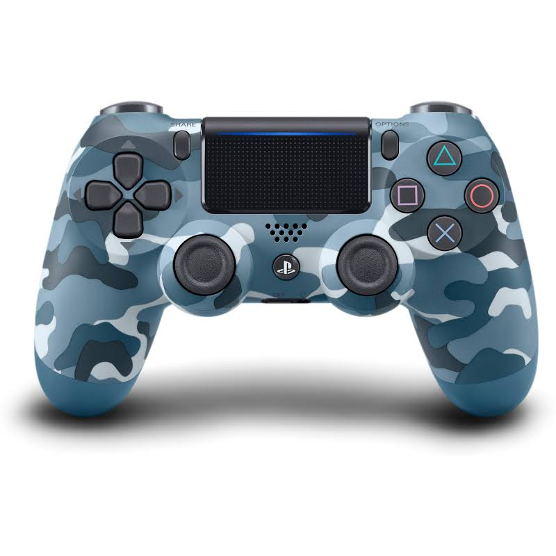 Sony DualShock 4 Wireless Controller Blue Camouflage - Wireless - Bluetooth - USB - PlayStation 4 - Blue Camouflage
