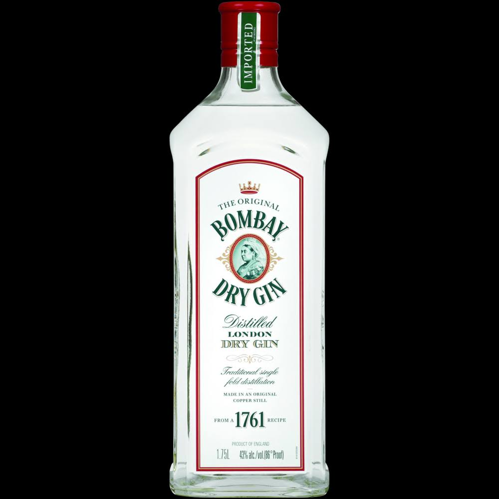 Bombay Gin, London Dry, Distilled - 1.75 lt