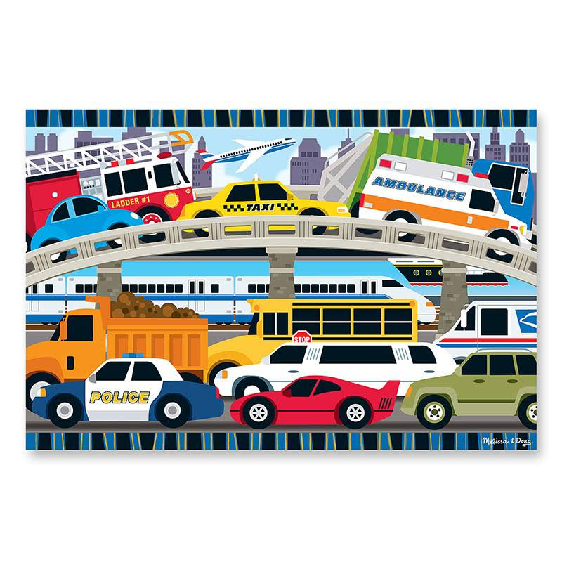 Melissa & Doug Traffic Jam Floor Puzzle - 24 Pieces