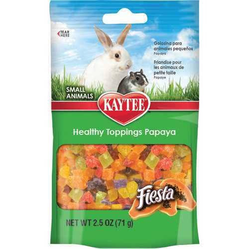 Kaytee Fiesta Healthy Toppings - Papaya Treat for Small Animals, 2.5oz