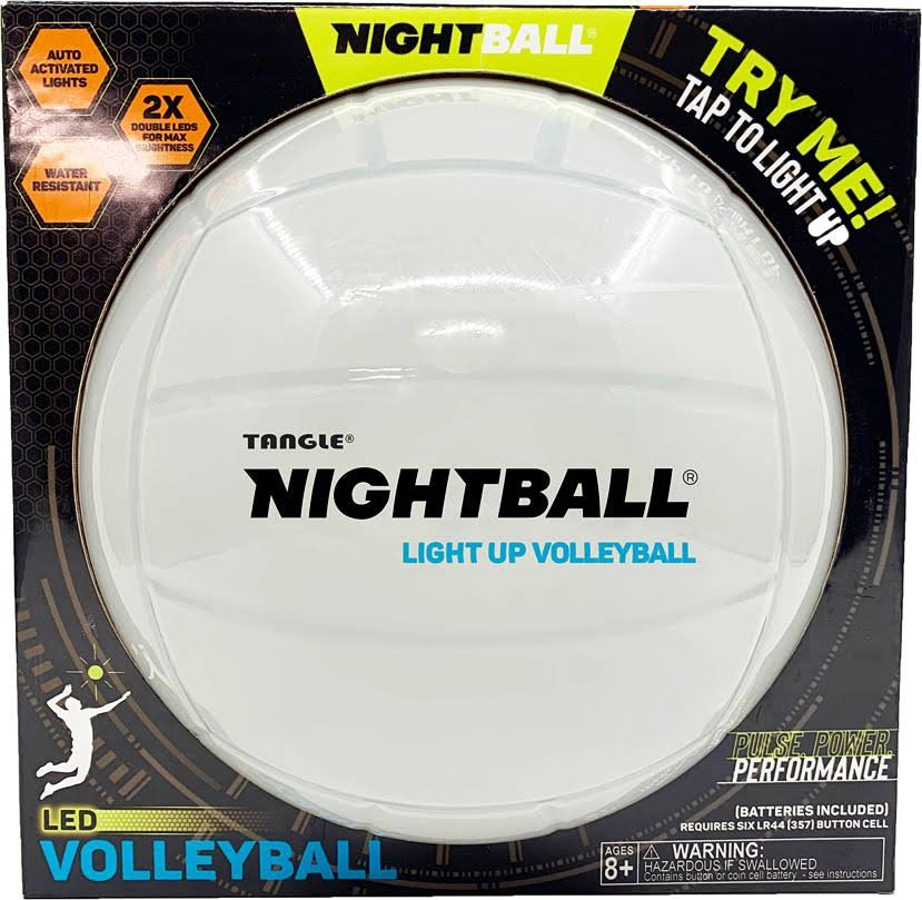Tangle Creations NightBall Volleyball - Pearl White