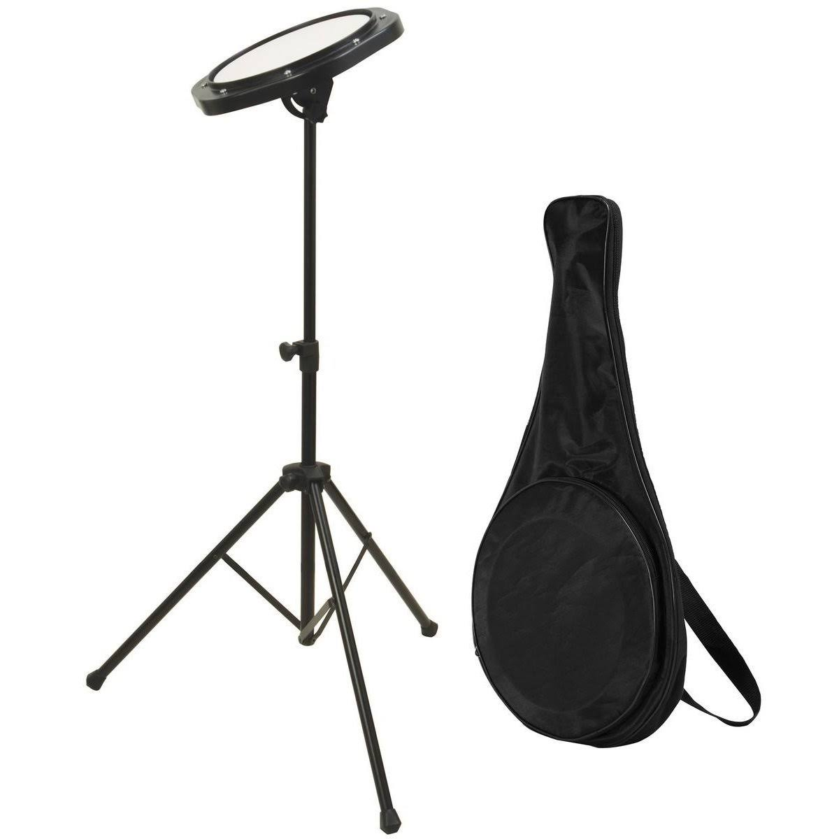 On Stage Drum Practice Pad - with Stand and Bag