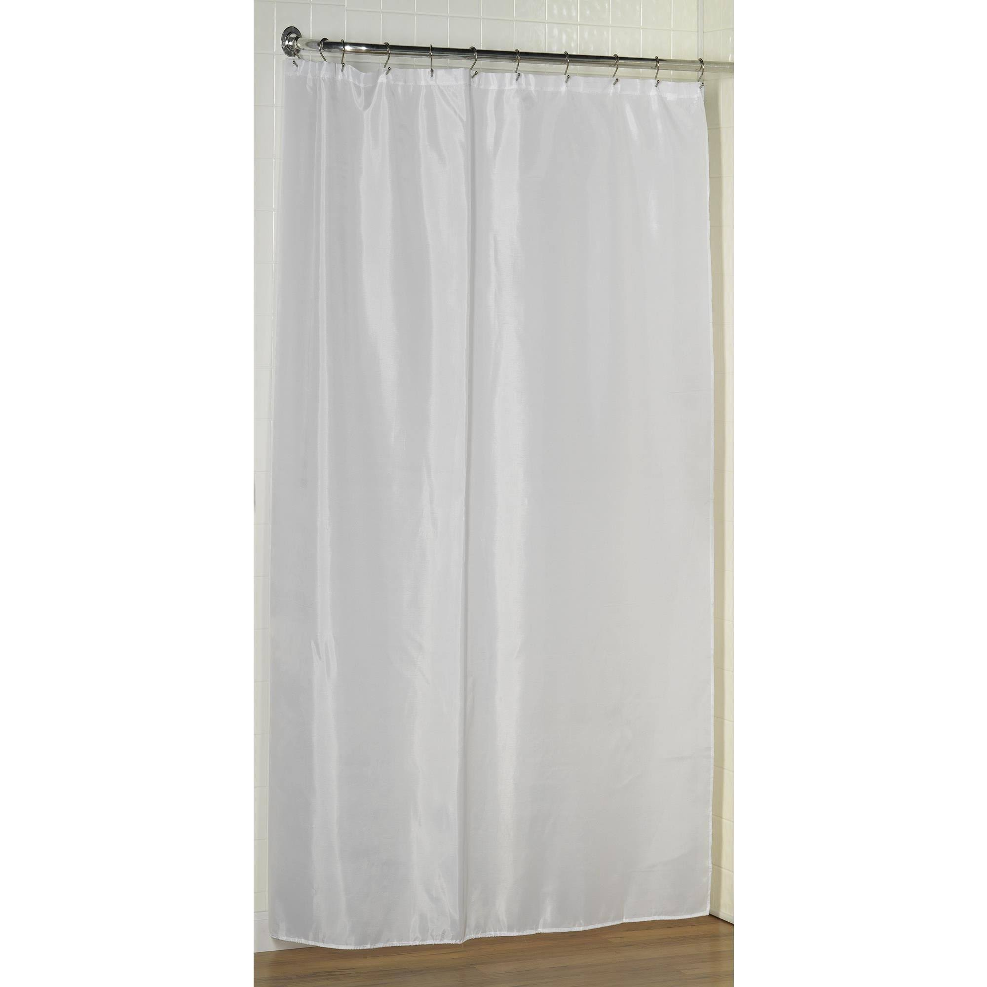 Carnation Home Fashions Shower Stall-Sized Polyester Shower Curtain Liner White