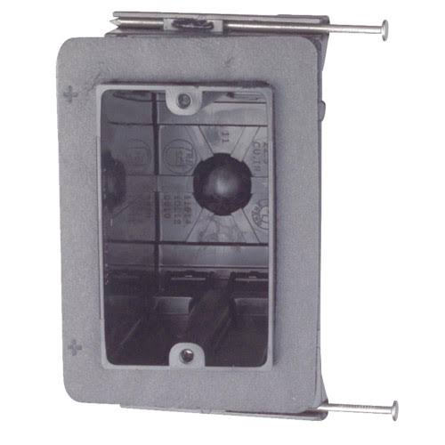 "Carlon Outlet Box - 1 Gang, 3 5/8"" x 2 1/4"" x 3 5/8"""