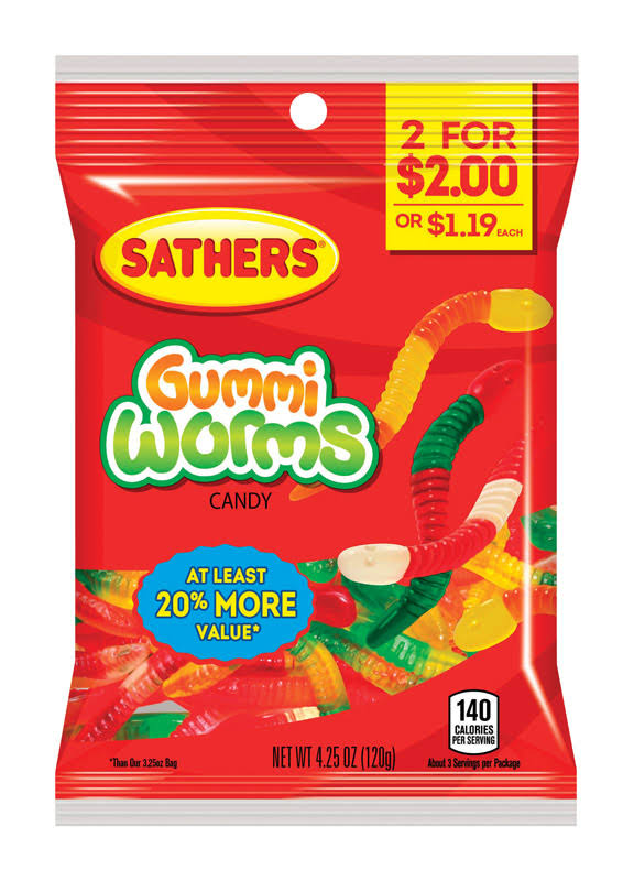 Sathers Gummi Worms 4.25oz