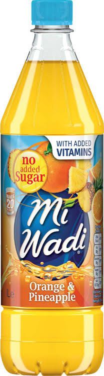 Miwadi No Added Sugar Single Concentrate Juice Drink - Orange and Pineapple, 1L