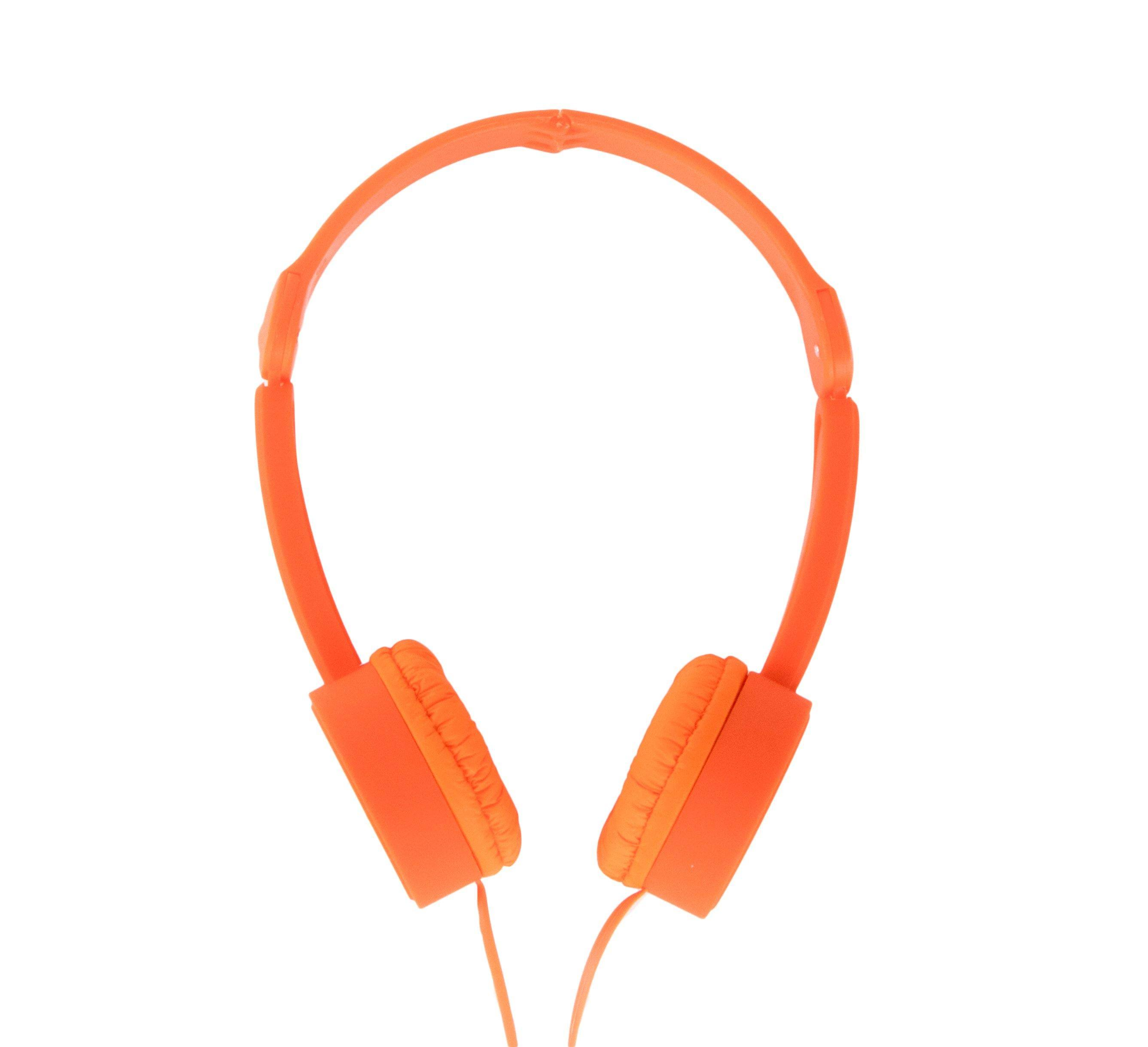 POPTONE Foldable Headphones Orange