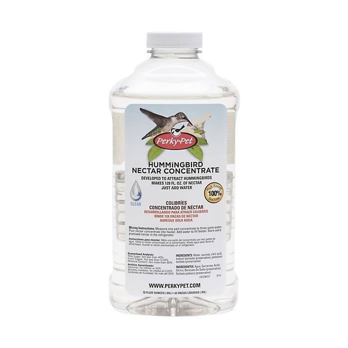 Perky-Pet 238CL Clear Hummingbird Nectar Concentrate - 32oz