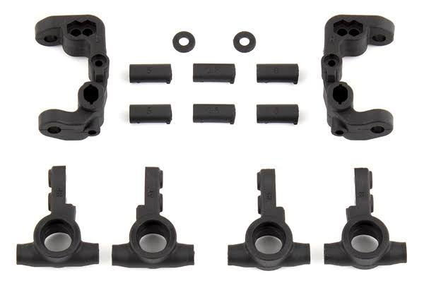 Team Associated ASC91776 B6.1 Caster and Steering Blocks - Black, Scale 1:10