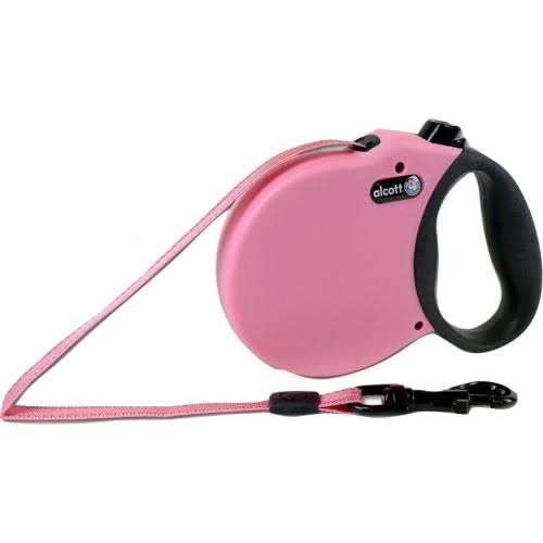 Alcott Adventure Retractable Leash - Pink, Medium (5m)