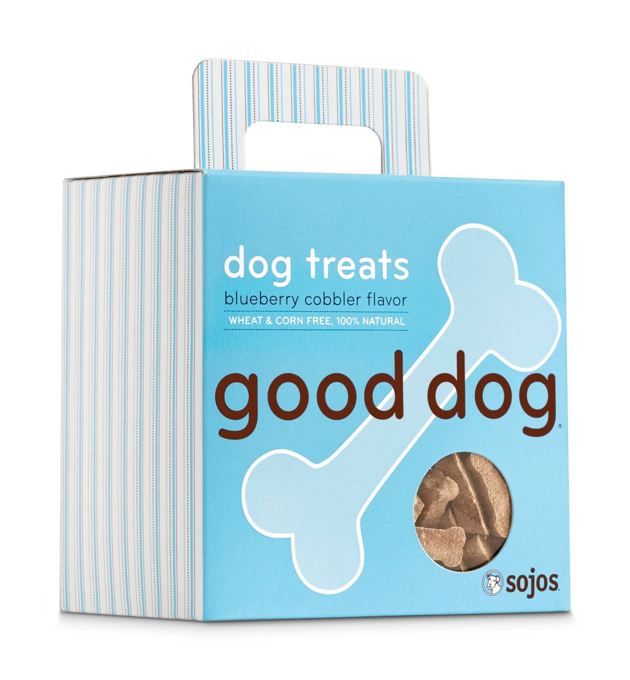 Sojo's Good Dog Treats - Blueberry Cobbler, 8 oz