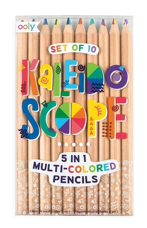 Ooly Kaleidoscope Multi Colored Pencils - Set of 10