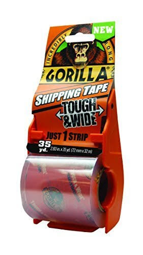 Gorilla Shipping Tape with Dispenser - 2.83 in x 35 yds