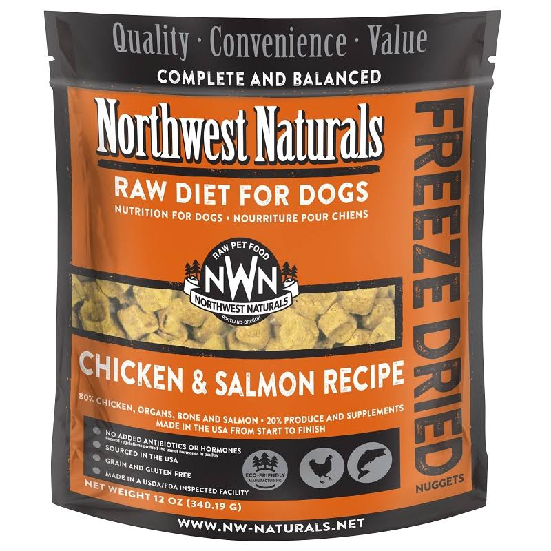 Northwest Naturals Freeze Dried Raw Diet Dog Food, Chicken & Salmon / 12 oz
