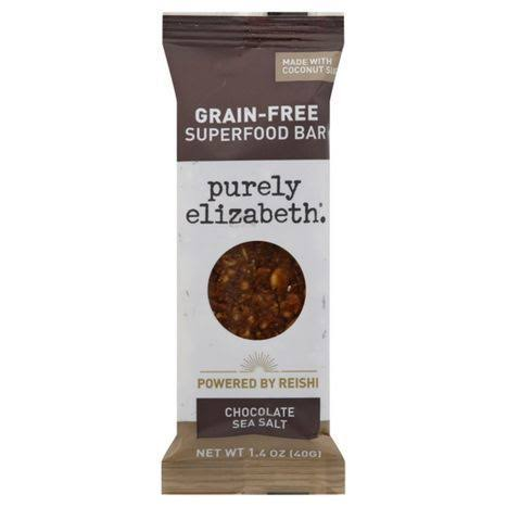 Purely Elizabeth Bar, Grain-Free, Chocolate Sea Salt + Reishi - 1.4 oz