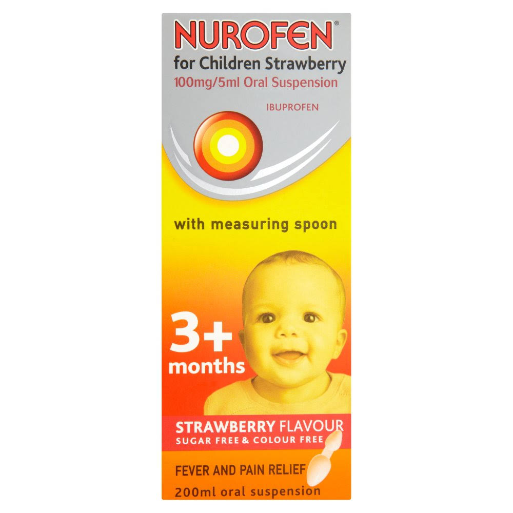 Nurofen for Children Oral Suspension Strawberry Flavour 3+ Months - 200ml
