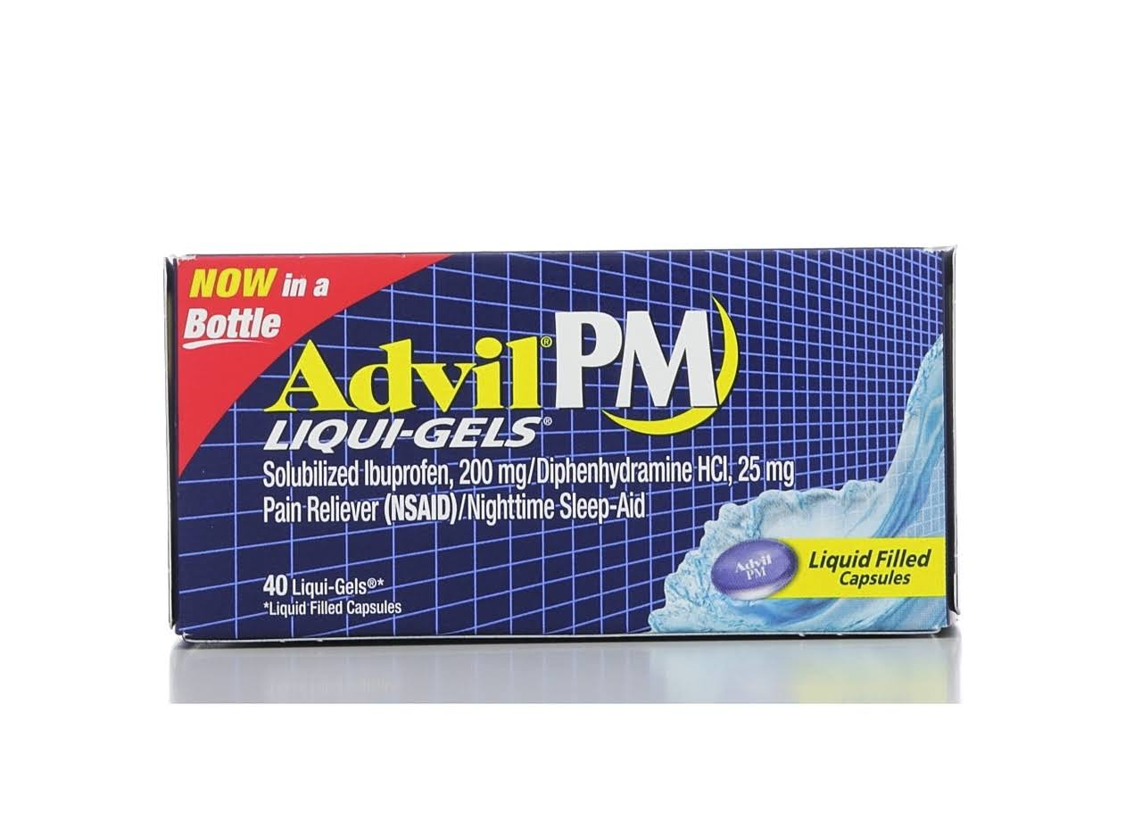 Advil Pm Pain And Nighttime Ibuprofen Sleep Aid Liqui-Gels - 32 Liqui-Gels