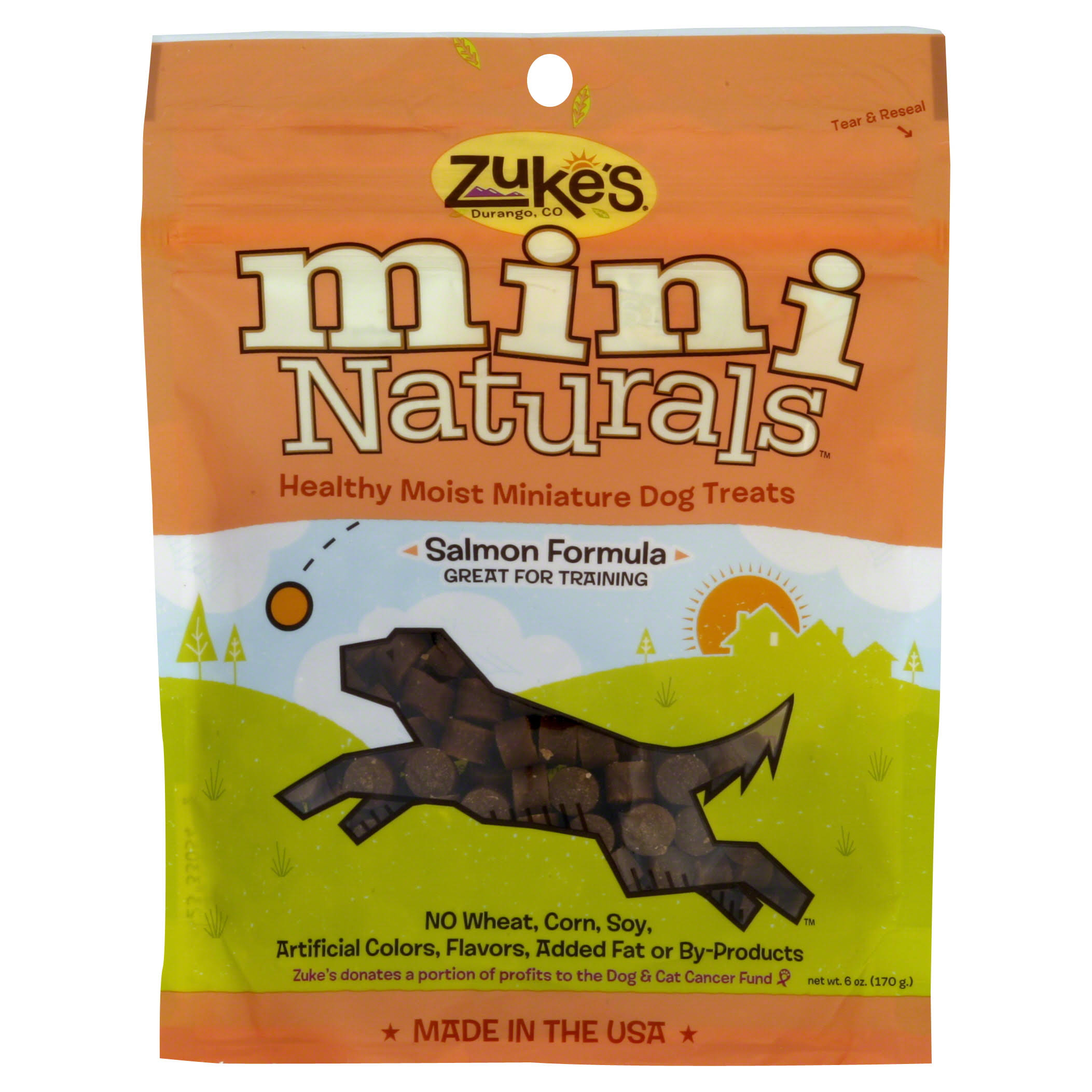 Zukes Mini Naturals Dog Treat - Salmon, 6oz