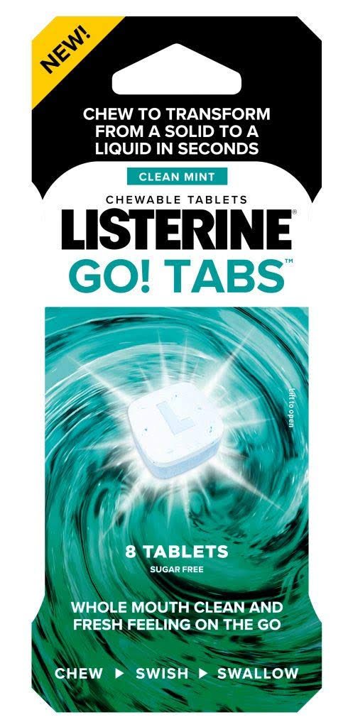 Listerine Go! Tabs Clean Mint Chewable Tablets - 4pk