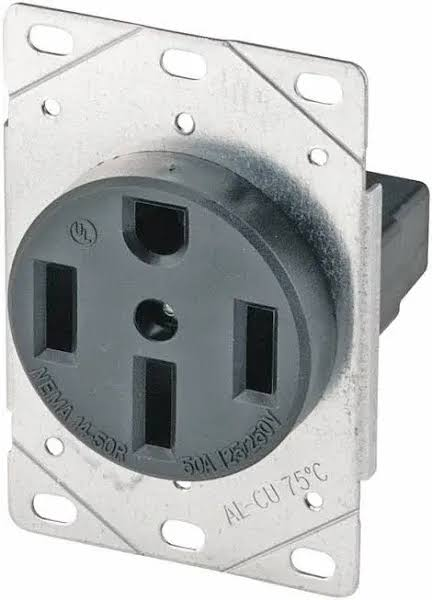 Cooper Wiring Devices Flush Ground Receptacle