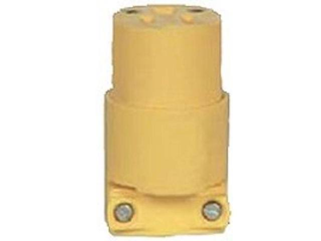 Eaton 4229-BOX Thermoplastic Vinyl Straight Connector - 20A, 250V, Yellow