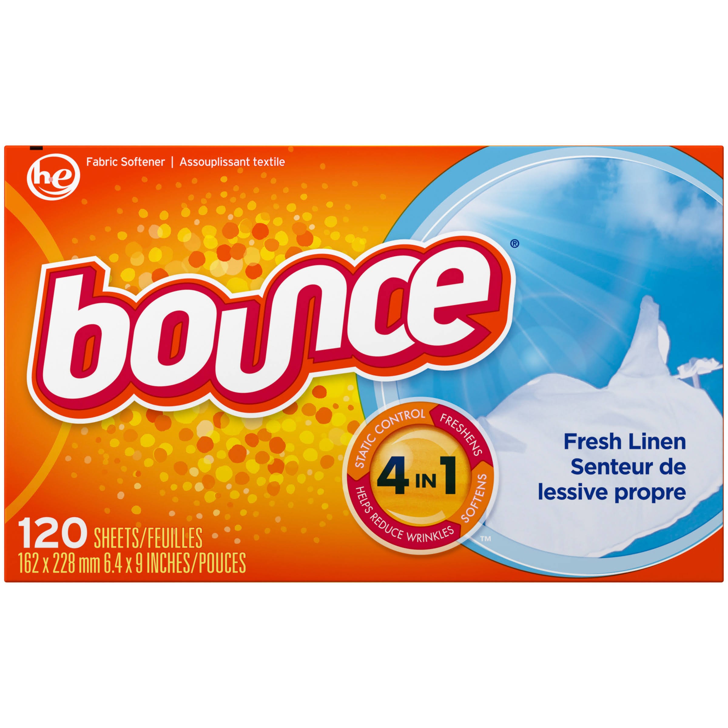 Bounce Fresh Linen Fabric Softener Sheets - 120ct