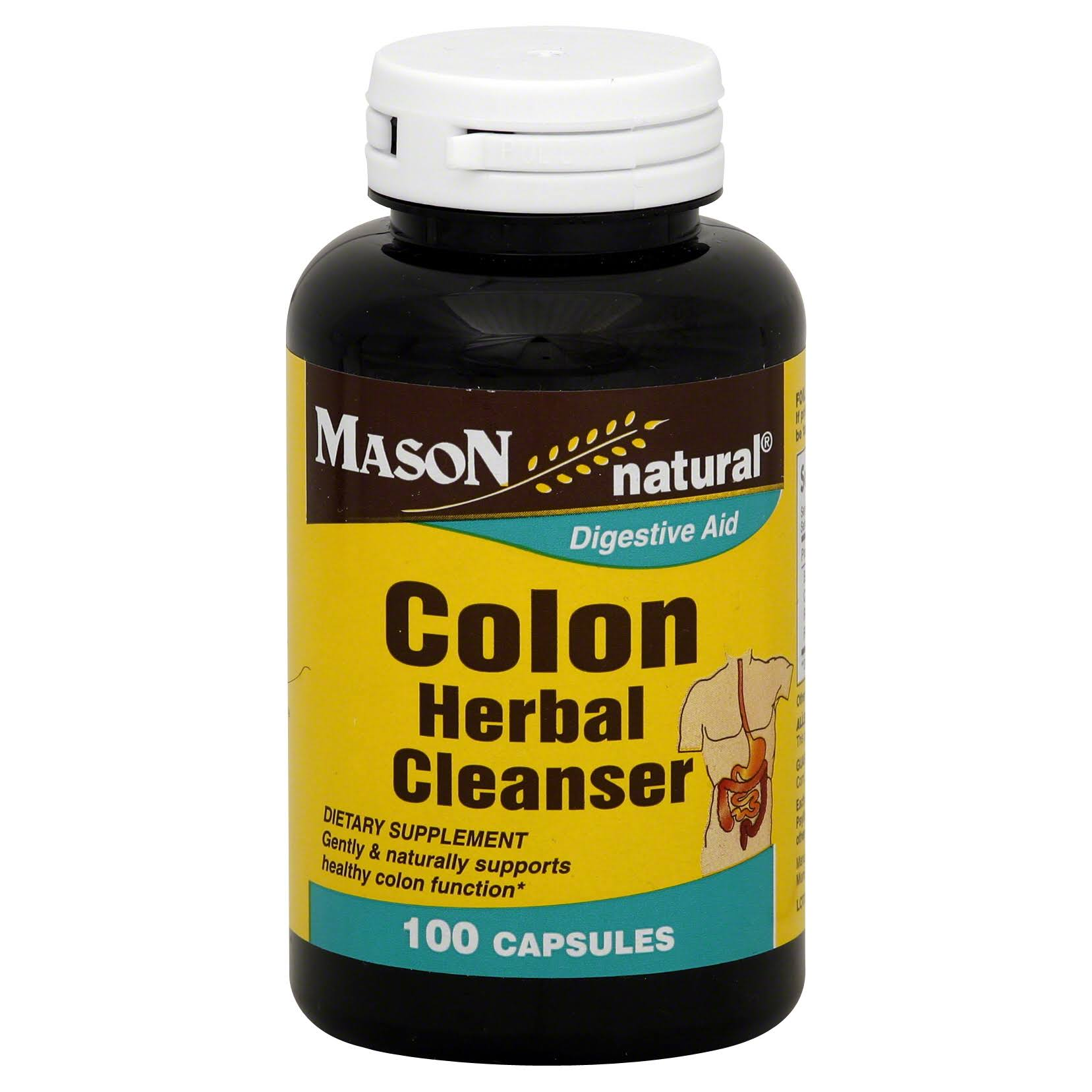 Mason Natural Digestive Aid Colon Herbal Cleanser - 1000 Capsules