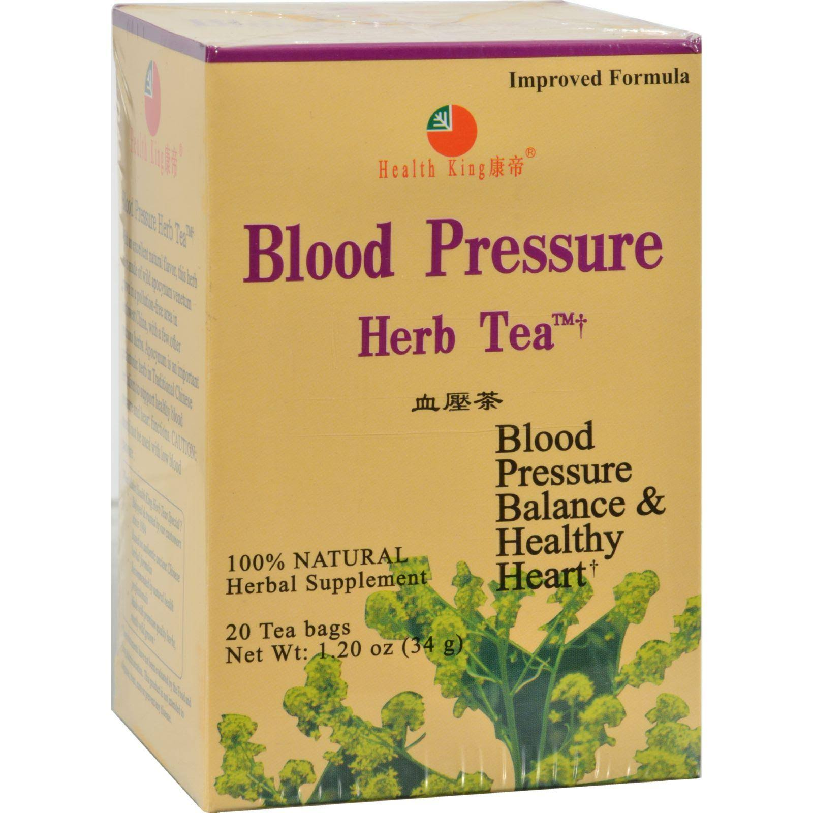 Health King Blood Pressure Herb Tea - 20 Teabags