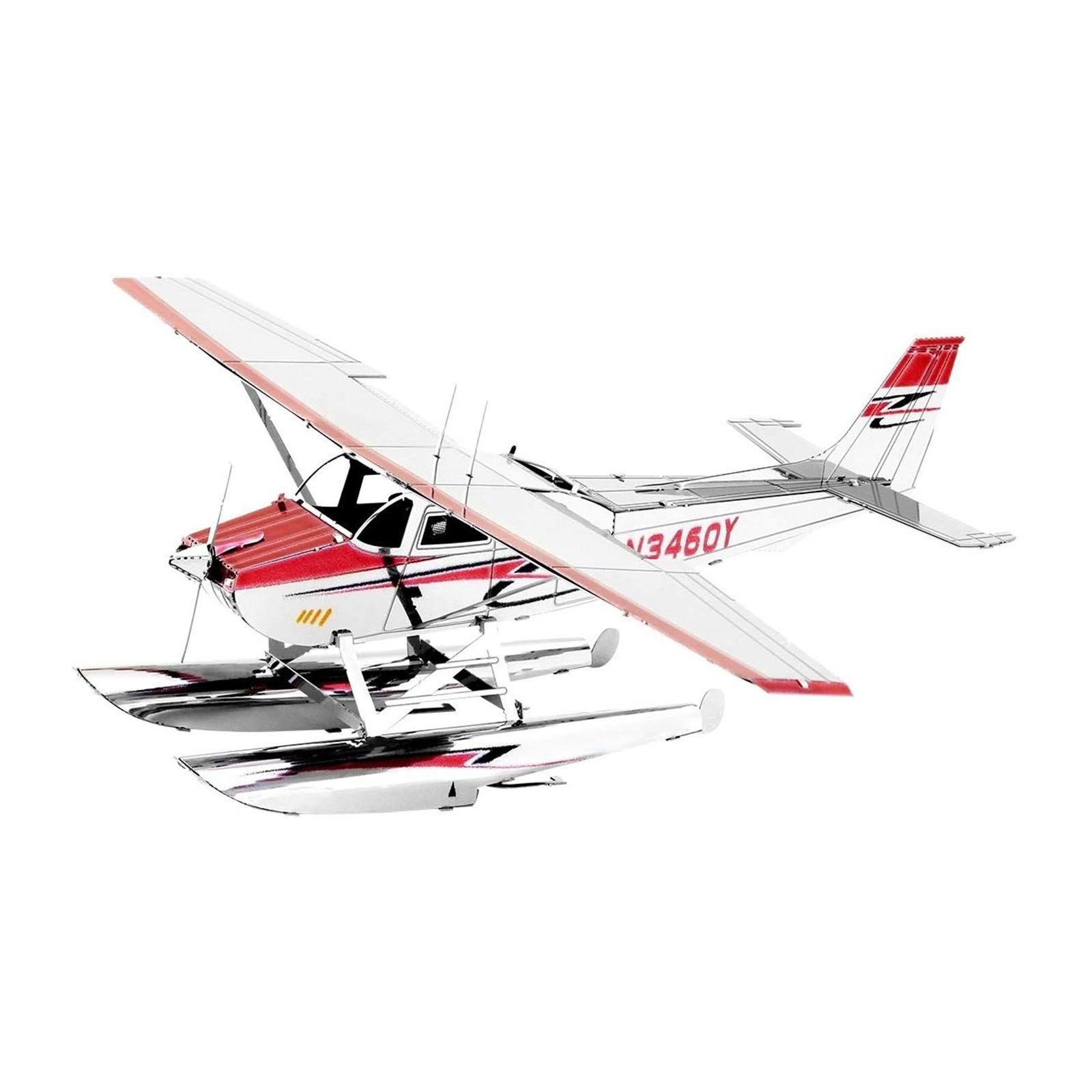 Fascinations Metal Earth Cessna 182 Floatplane 3D Metal Model Kit