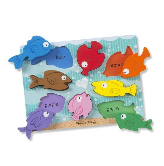 Melissa & Doug Colorful Fish Wooden Chunky Puzzle
