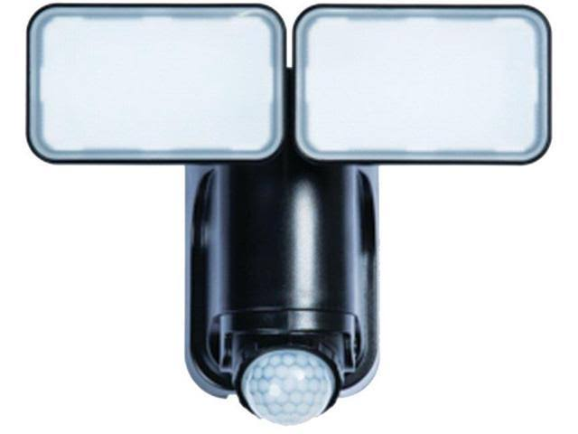 Heath Zenith Solar Powered Motion Sensor Security Light - Black, LED