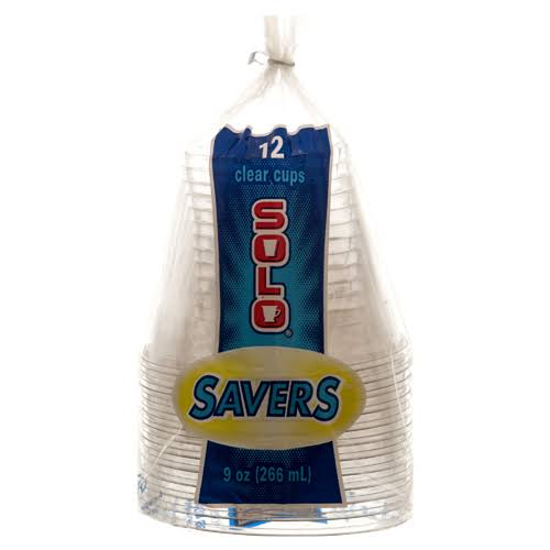 Solo Savers 9 oz Clear Cups 12ct