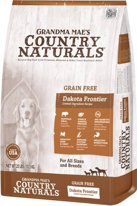Grandma Mae S Country Nat - Country Naturals Grain Free Limited Ingredient Dog Buffalo / 25lb