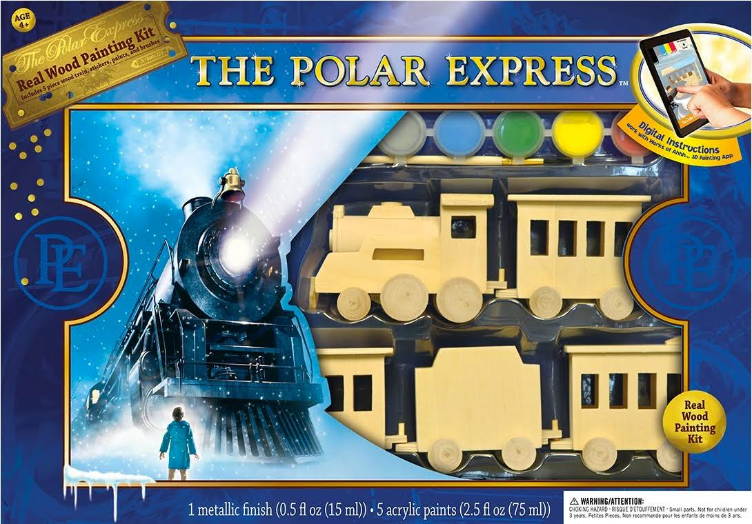 Polar Express Collection Wood Train Paint Kit