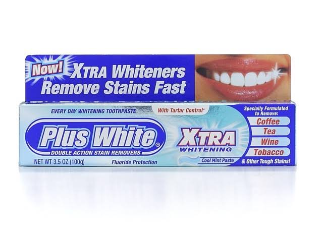 Plus White Whitening and Protection Toothpaste - Cool and Crisp Mint, 99g