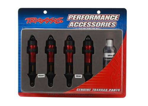 Traxxas 5460R Aluminium GTR Shocks - Red, 4pcs