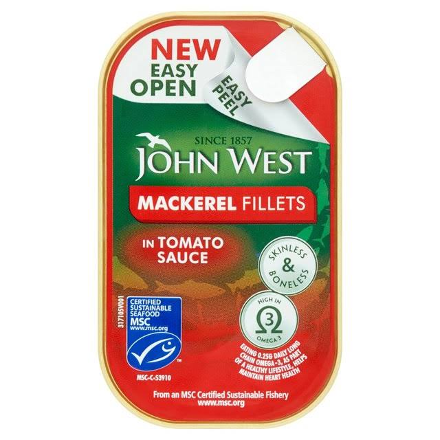 John West Mackerel Fillets Tomato Sauce - 115g