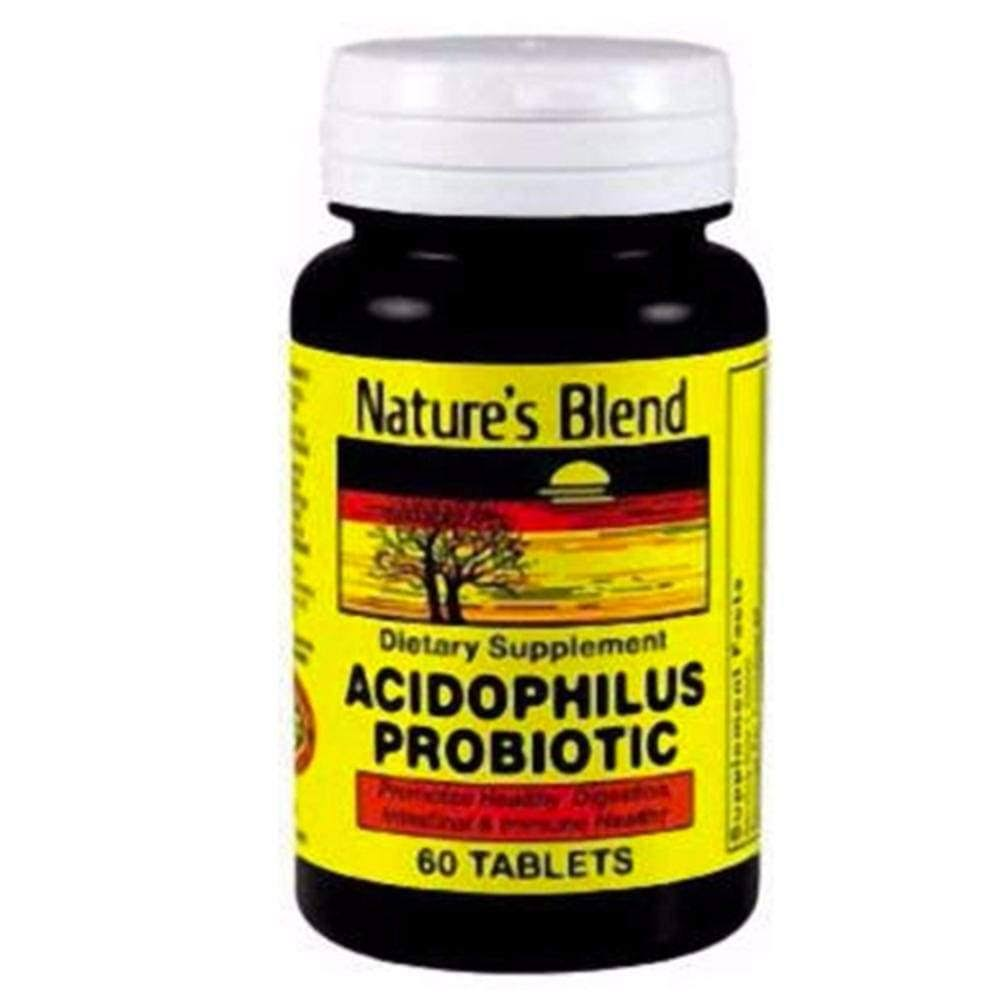 Nature's Blend Acidophilus Probiotic - 60 Tablets