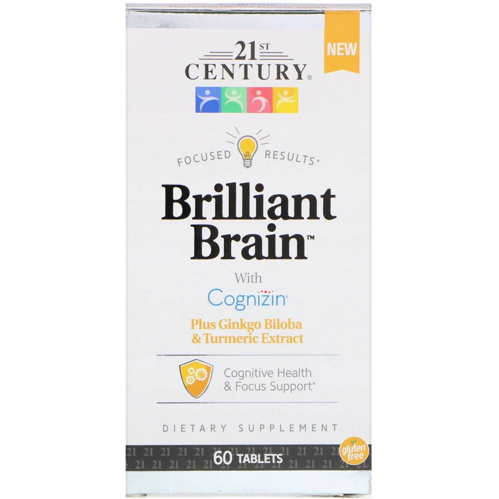 21st Century Brilliant Brain Tablets - 60ct