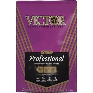 Victor GMO-Free Professional Dog Food - Beef and Pork Meal, 5lbs