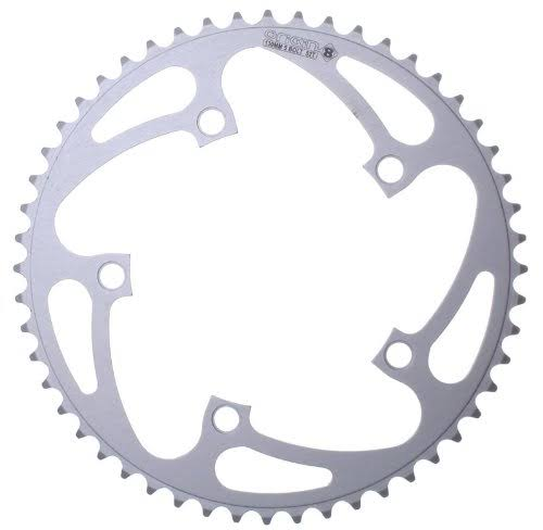 Origin8 Alloy Blade Chainring - Silver, 130mm x 52T, 5 Bolt