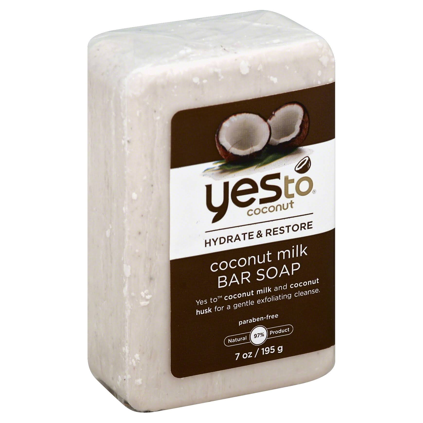 Yes to Coconut Hydrate and Restore Milk Bar Soap - Coconut, 210ml