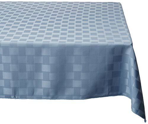 "Bardwil Reflections Spill Proof Tablecloth - Stone Blue, 52"" x 70"""