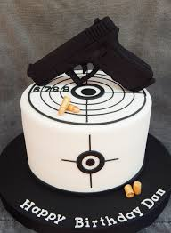 Cake Decoration Ideas For A Man by Gun Is Styro Foam Covered In Fondant 7
