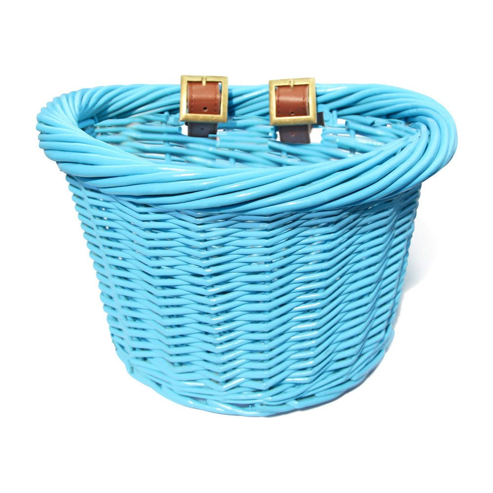 Colorbasket 01440 Junior Front Handlebar Wicker Bike Basket Blue