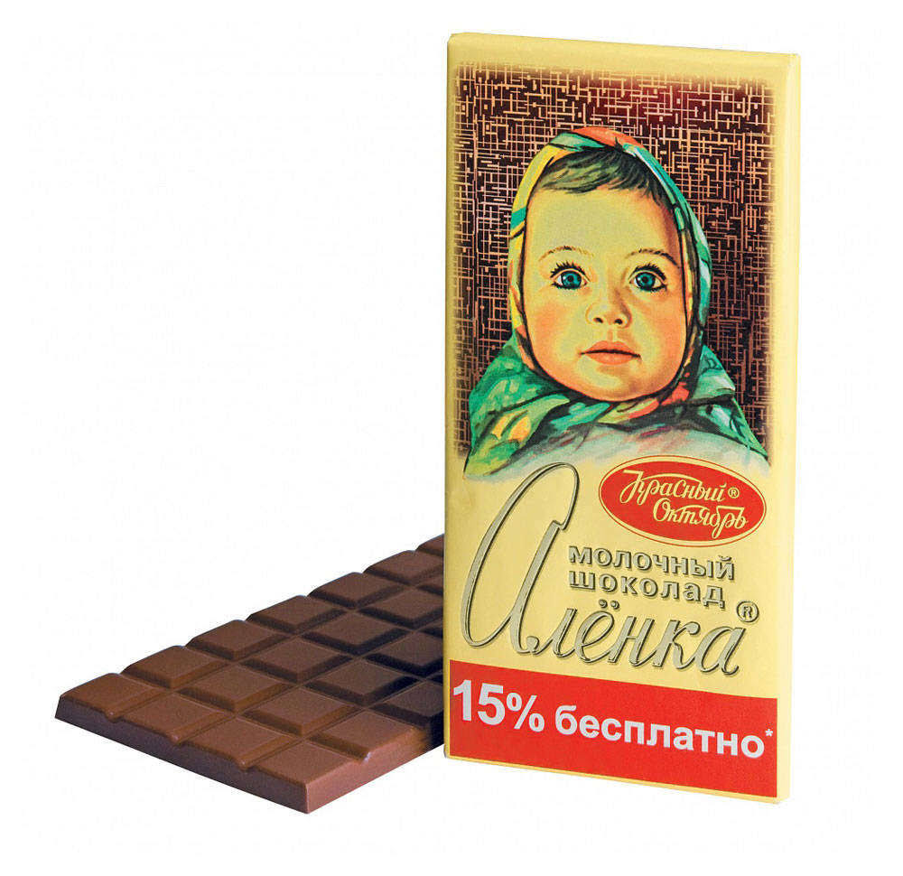 Imported Russian Milk Chocolate Alionka 200g