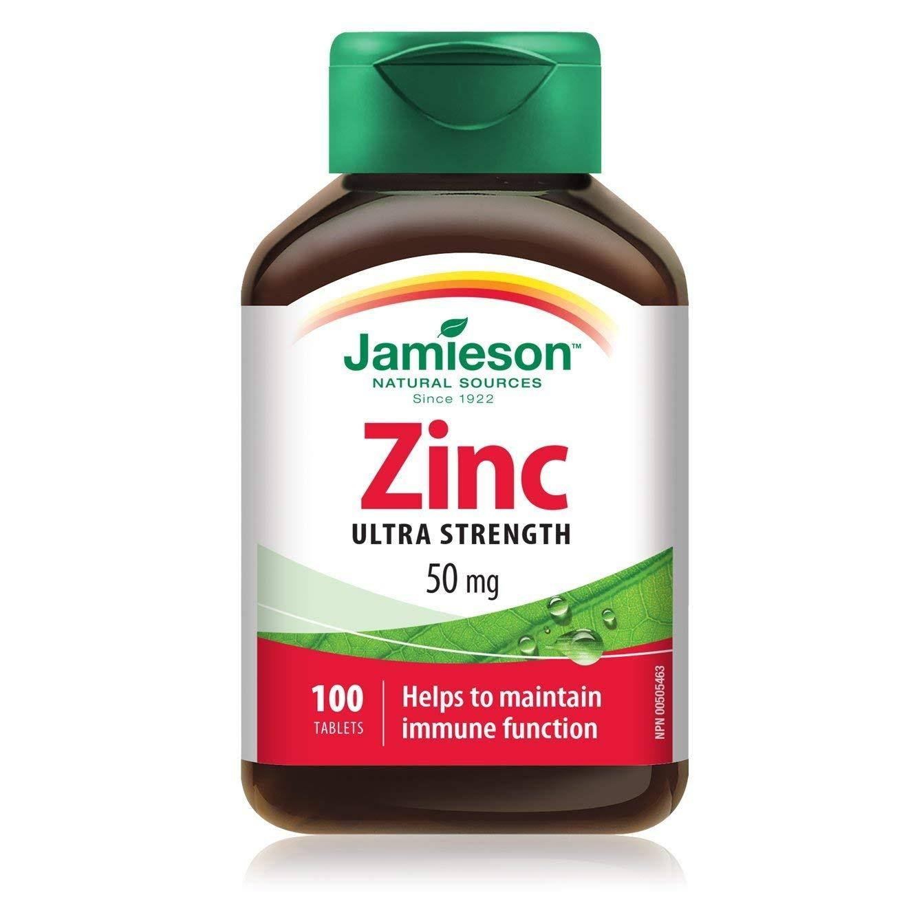 Jamieson Zinc Supplement - 50mg, 100 Tablets